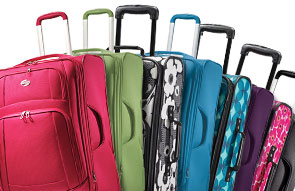 American Tourister bags of varying color